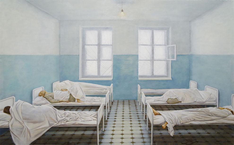 Seniman Rusia Maria Safronova Melukis Kecemasan dan Ketidakpastian dalam Kehidupan yang Teratur
