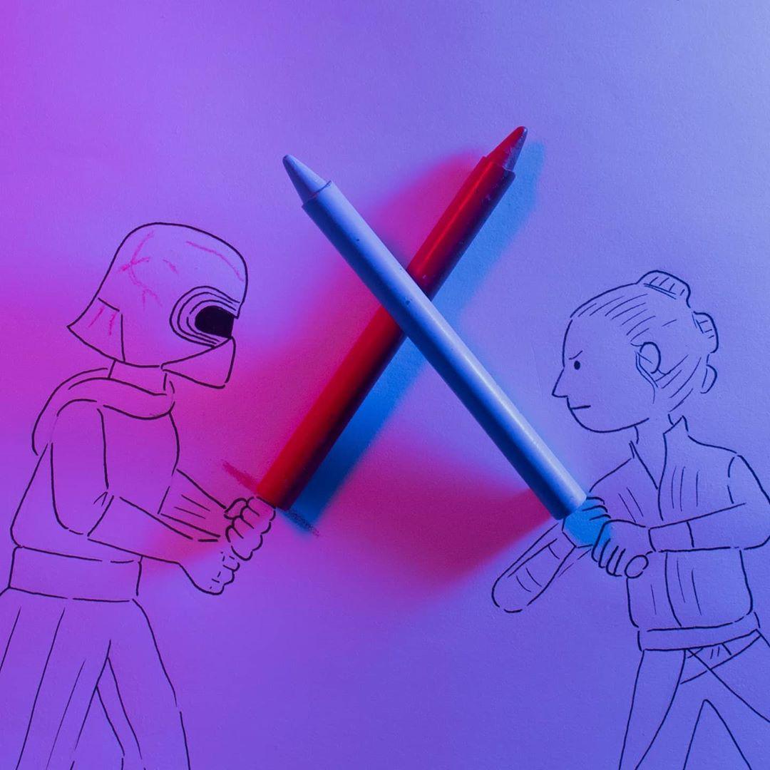 Artis Mengubah Objek Biasa Menjadi Karakter Star Wars