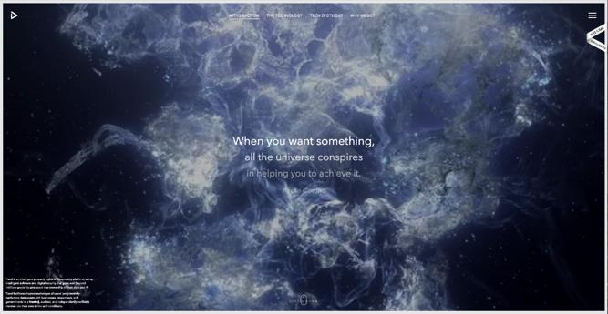 Homepage of Feed, an award-winning website