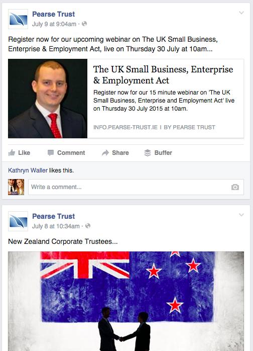 pearse trust facebook post regarding international affairs webinar
