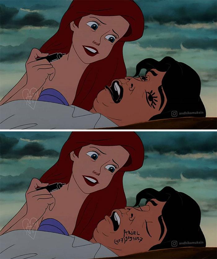 """""""Penguncian Disney"""": Artis Menciptakan Serial 'Disney Realistis' Di Mana Dia Membayangkan Karakter Terkenal Yang Hidup Di Tahun 2020"""