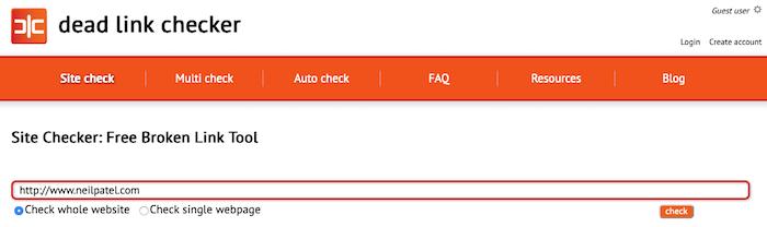 memperbaiki kesalahan 404 pemeriksa tautan mati