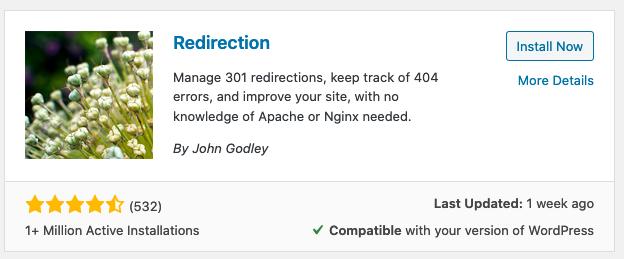 perbaiki kesalahan 404 dengan pengalihan