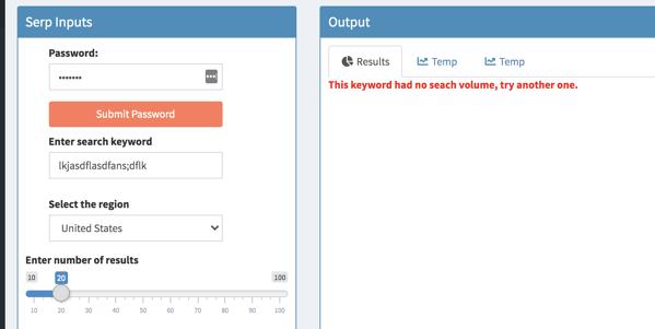 hubspot surround sound content strategy serp tracker error message