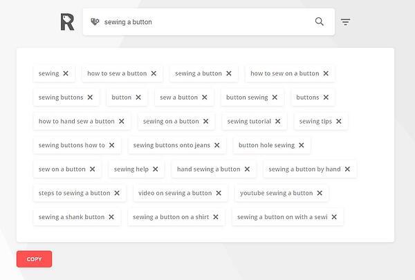"""rapidtags hasil generator tag youtube untuk """"menjahit kancing"""""""