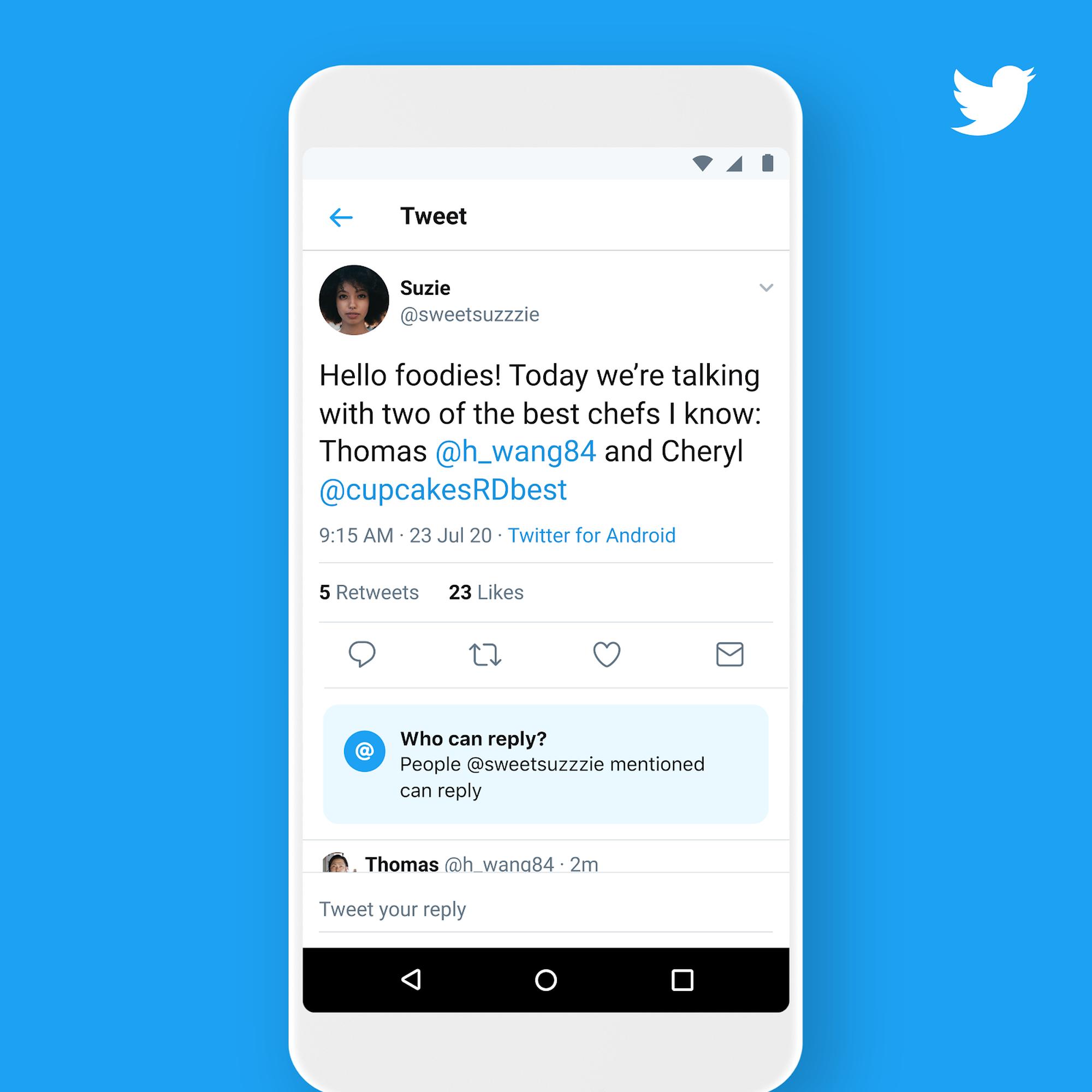 Twitter memberi semua orang kekuatan untuk membatasi balasan tweet (kali ini nyata)