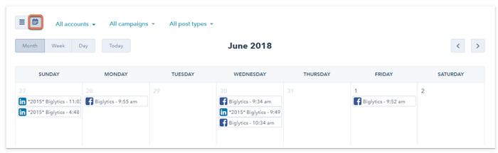 Alat Kalender Konten untuk Kampanye Iklan Berbayar - Hubspot