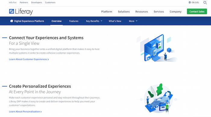 Examples of Digital Experience Platform Tools - Liferay
