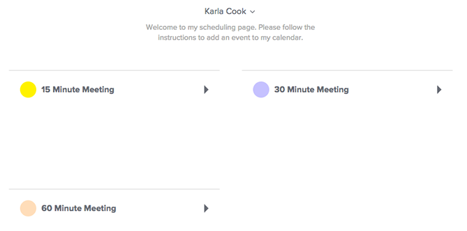 calendly scheduling software dashboard interface