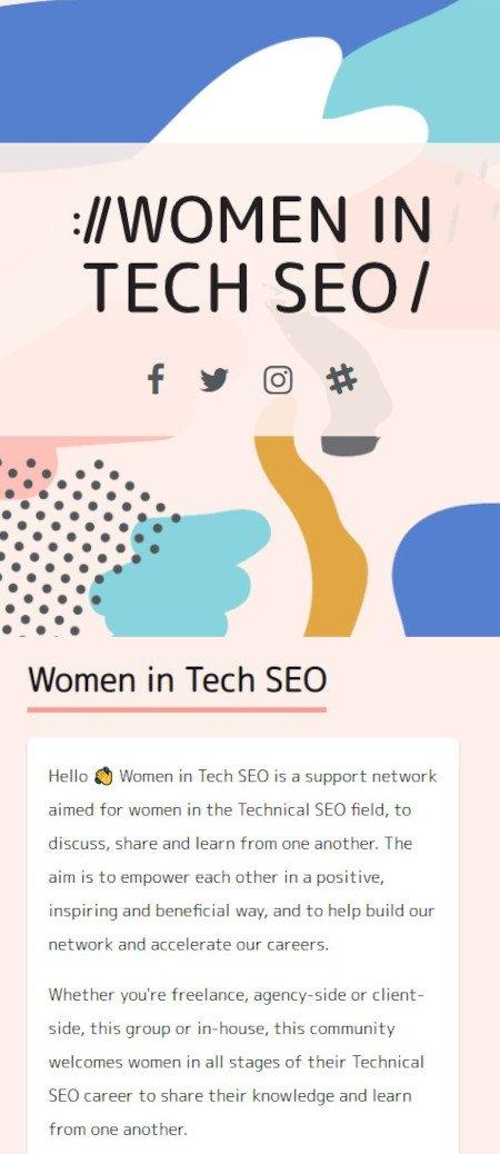 Marketing Technique: Community Building Example of Women in Tech SEO Community