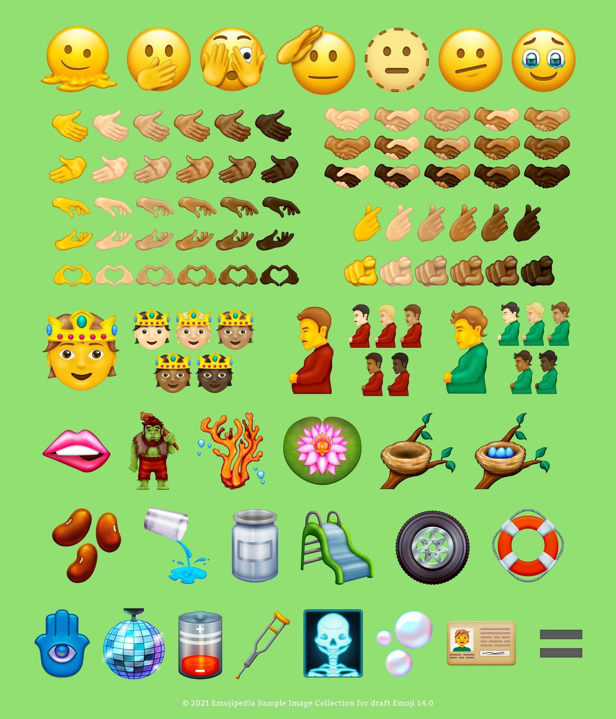 Emoji baru yang bisa kita lihat pada tahun 2021.