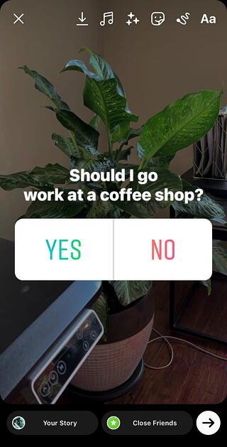 Poll stickers in Instagram Stories