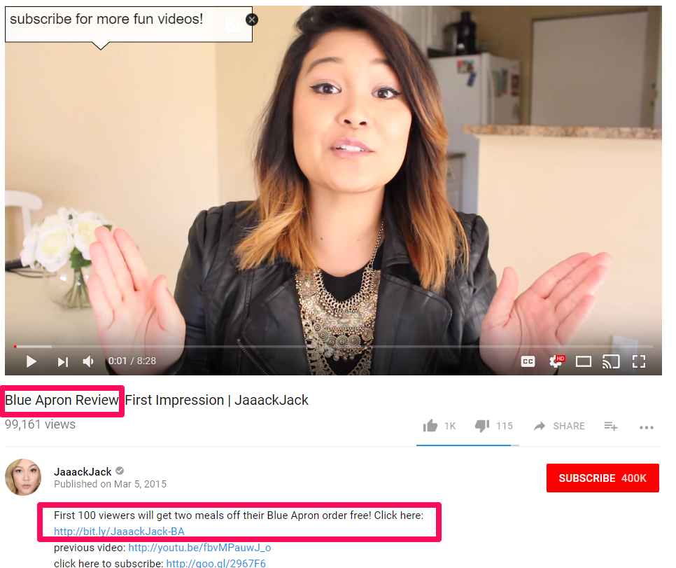 microinfluencers on youtube example