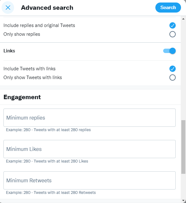 Twitter advanced search screen 3
