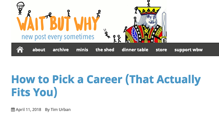 Examples of Great Content Guides - How to Pick a Career